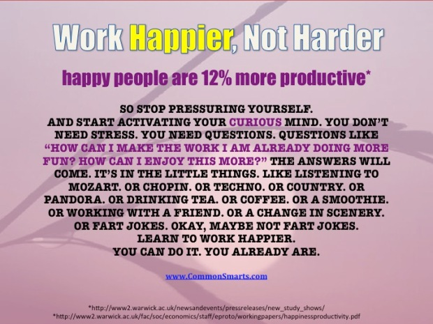 happy people are 12 percent more productive